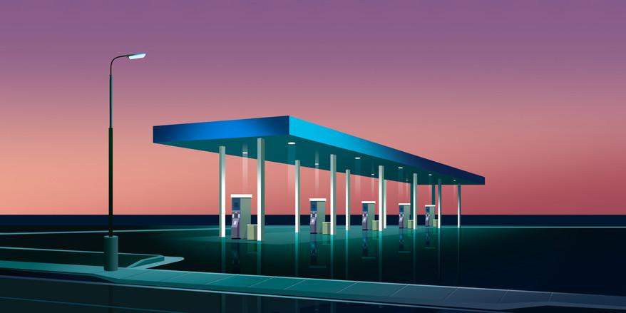 Station Service by Clément Dezelus