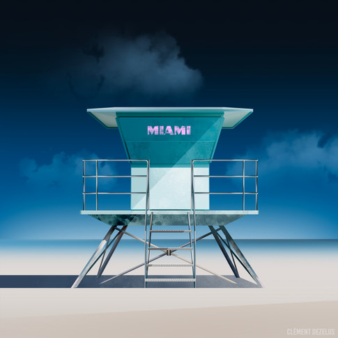 Miami Beach by Clément Dezelus