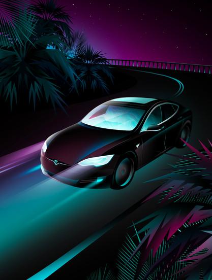 Tesla for Forbes Japan by Clément Dezelus