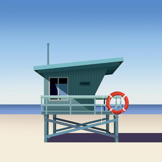 Lifeguard Blue by Clément Dezelus