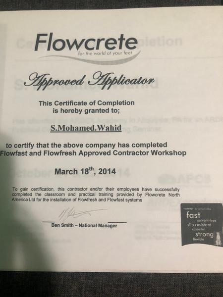 Moe's Certifications