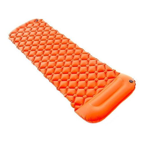Inflatable Outdoors Camping Pad Moisture-Proof Inflation Pad Field With Pillow