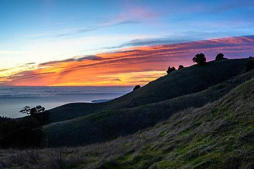 Mt. Tam Sunset Pano