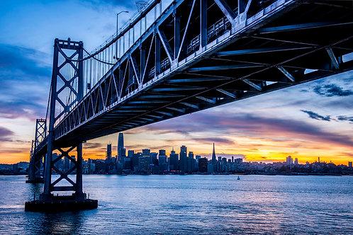 Sf Sunsets under the Bay Bridge
