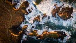 Aerial Mendocino Headlands