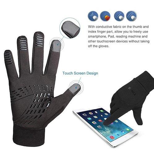 Unisex All-fingered Touch Screen Gloves Winter Warm Anti-Slip Gloves Driving C