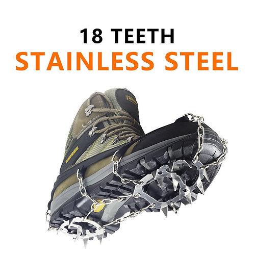 YUEDGE Stainless Steel 18 Teeth Snow Shoe Grips