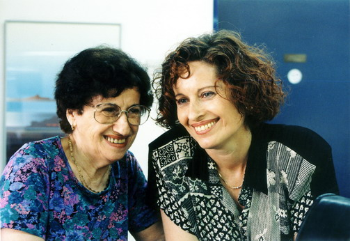 Director Tsipi Reibenbach, and her mother Fruma