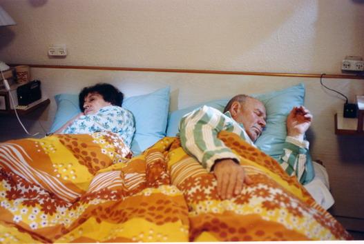 Yitshak and Fruma, in thier bedroom