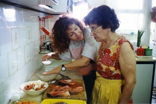 Tsipi Reibenbach, directing her mother Fruma