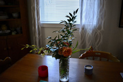 Flowers in dining room