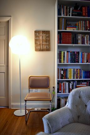 Bookshelf in living room