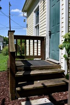 Back cottage entrance