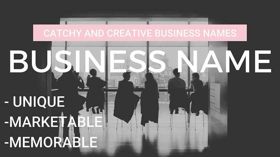 Unique Business Name