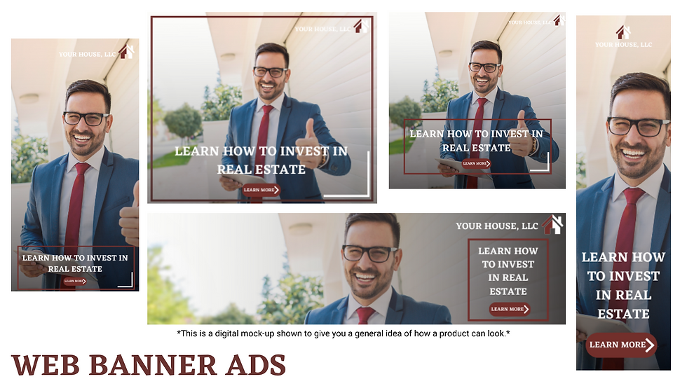 3 Custom Web Banner Ads
