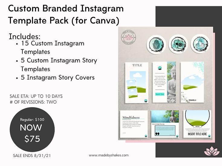 Custom Branded Instagram Template Pack (for Canva)