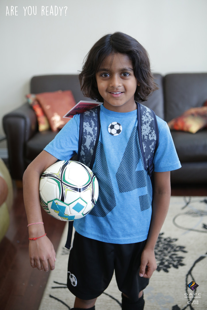 Vikram_Getting Ready for Soccer_With Soc