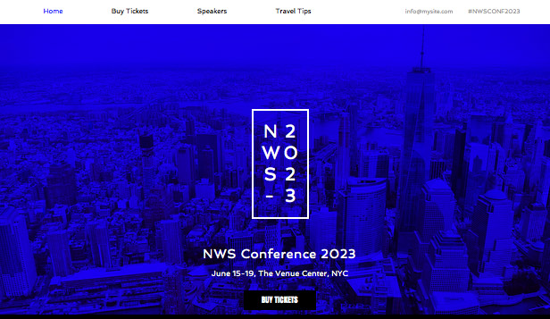 Events website templates – Business Conference