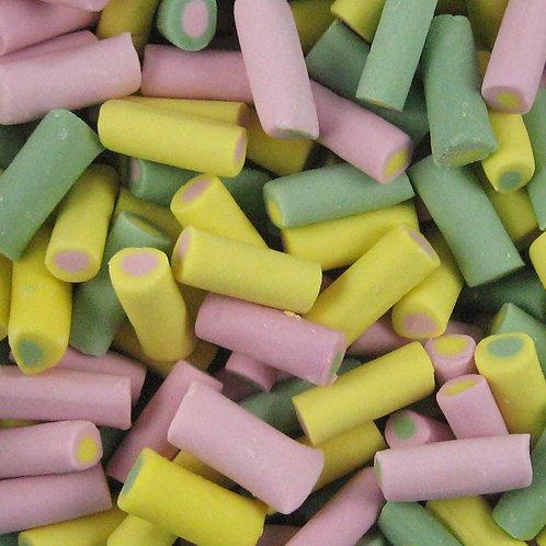 Rhubarb and Custard foam sweets