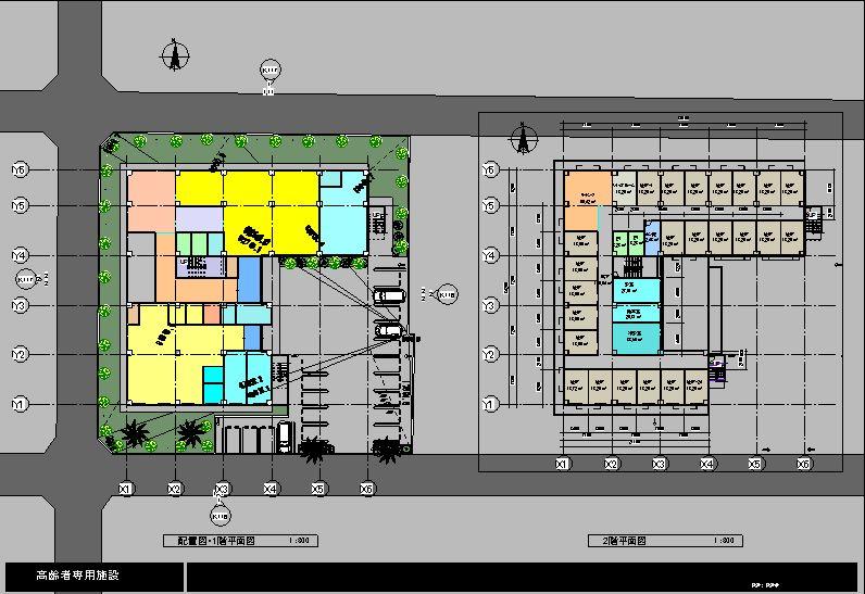 配置・1・2階平面図