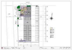 外構図、1階平面図