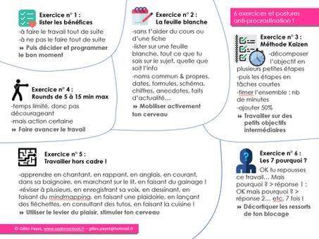 Voici 6 exercices très efficaces pour ne plus procrastiner pendant vos révisions et devoirs maison