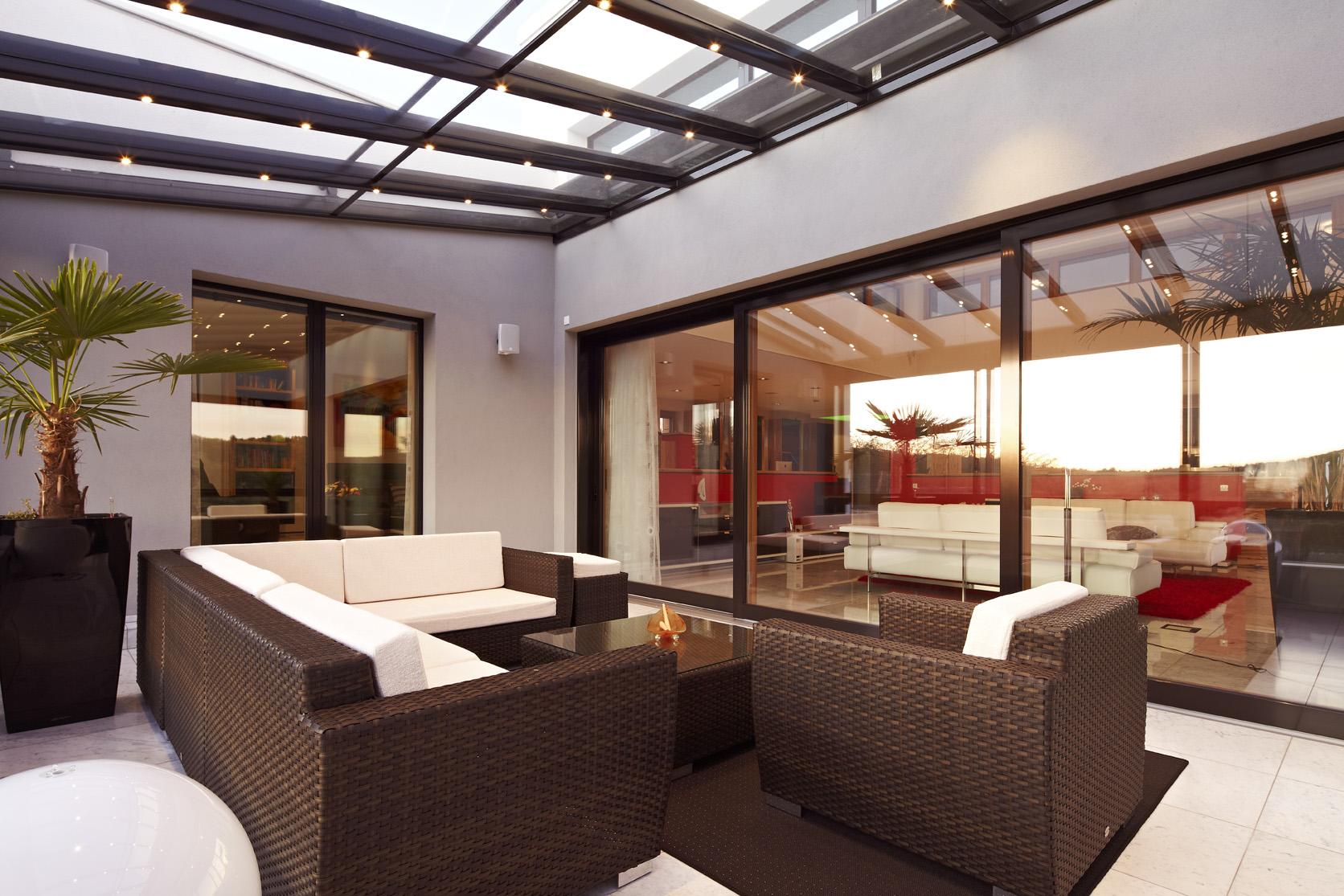 luxuriöse Wohnraumerweiterung