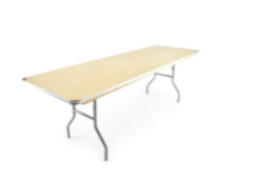 8ft Rectangle Table - Heavy Duty Birchwood Folding Banquet