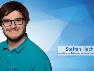 Auszubildender Steffen Hechler