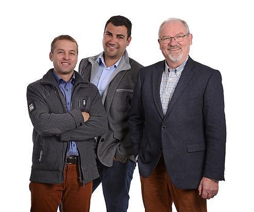 Unsere Geschäftsführer Ralf Neumann, Markus Ringat und Georg Hofer (v.l.n.r)