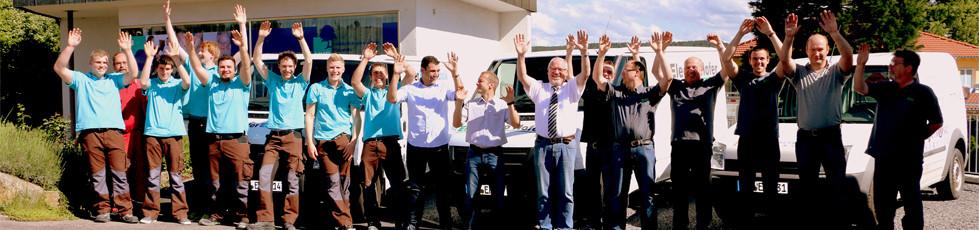 Das gesamte Team von Hofer Elektrotechnik, Elektro Hofer und Hofer Electronic Service