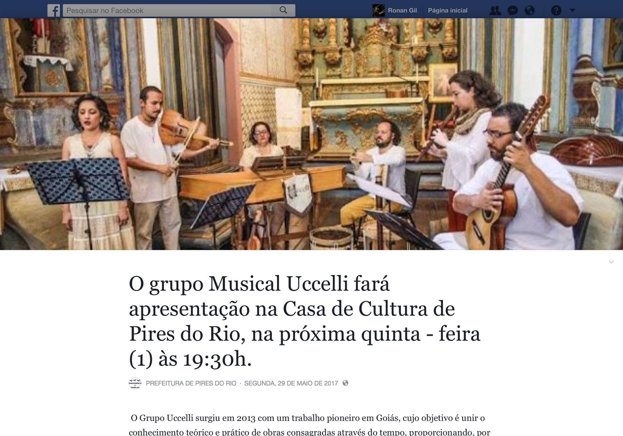 Facebook Prefeitura de Pires do Rio