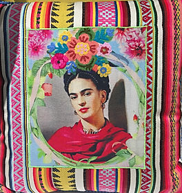 Frida%20Kahlo%20Pillow%20on%20striped%20