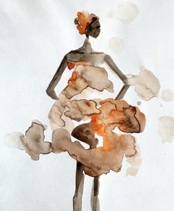 African Girl - Aquarelle