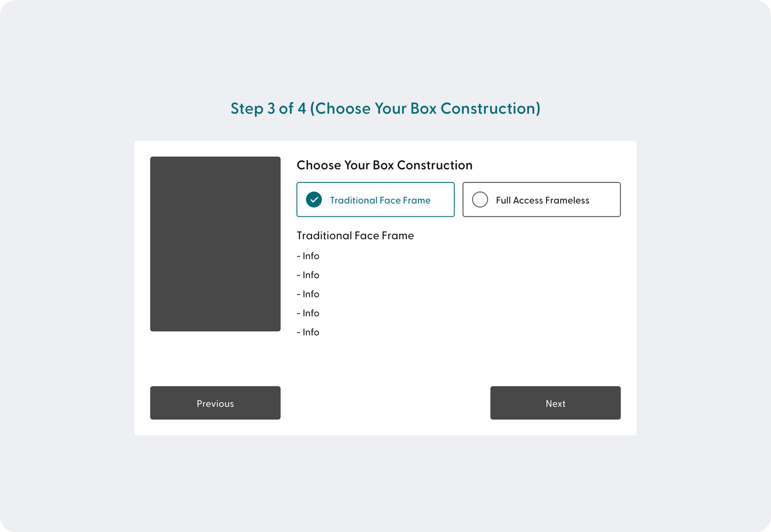 Step 3 of 4 (Choose Your Box Constructio