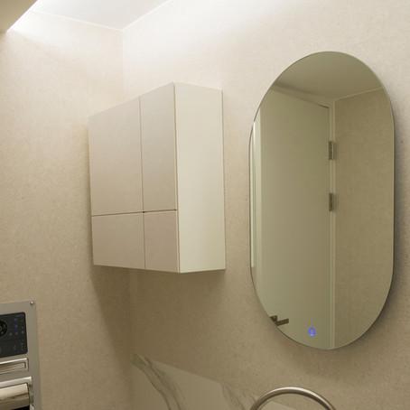 포세린 (세라믹) 욕실 수납장