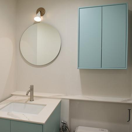 욕실하부장, 상부장 맞춤제작 : 아크로리버뷰 신반포