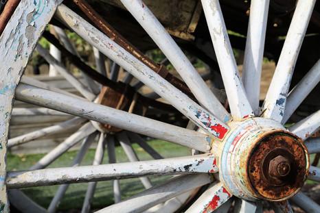 גלגל עתיק לבן