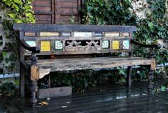 ספסל אאוטדור הודי עתיק