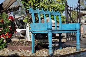 ספסל טורקיז לגינה בצבע - אאוטדור