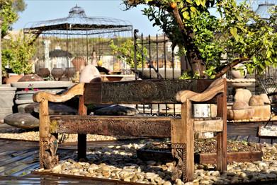 ספסל מעץ מלא - אאוטדור