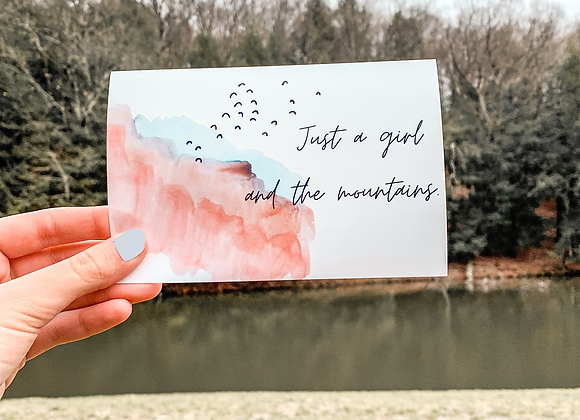 Just a Girl Print