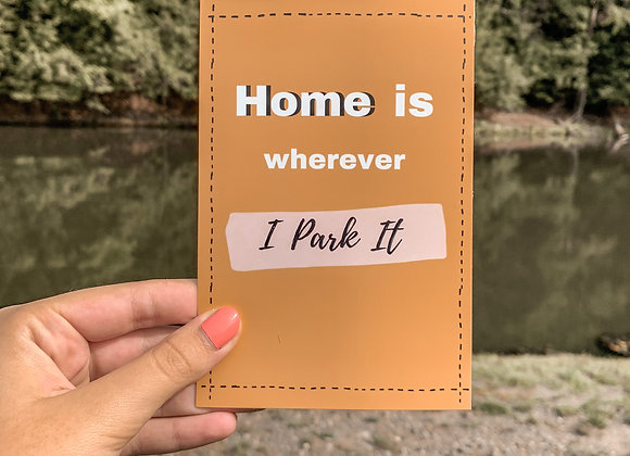 Home Is Postcard