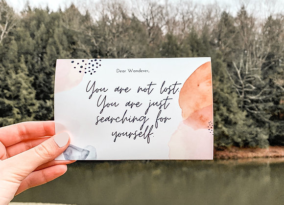 You Are Not Lost Print