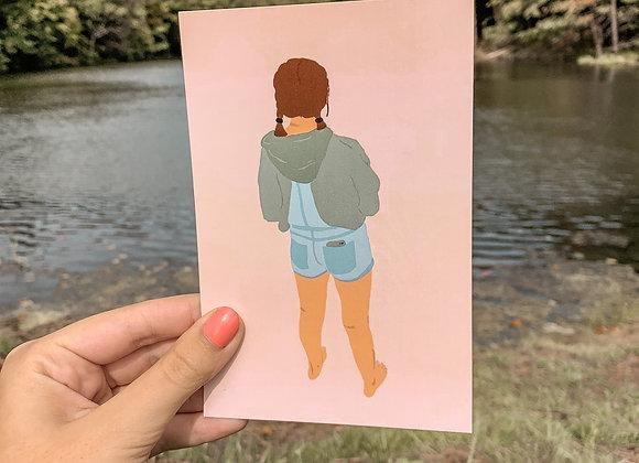 Shores Babe Postcard