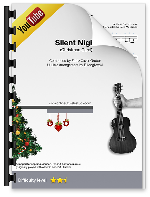 Silent Night (Christmas Carol) - Fingerstyle ukulele