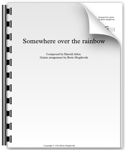 Somewhere over the rainbow - Harold Arlen (PDF)