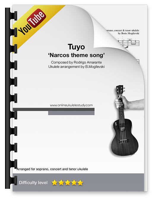 'Narcos' intro theme (Tuyo)  - Ukulele cover