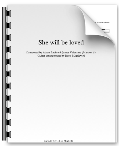 She will be loved - Maroon 5 (PDF)