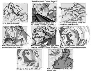 Rough Storyboards-James Bond Bloodstone DS